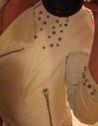Biała ramoneska z ćwiekami Zara 36 S