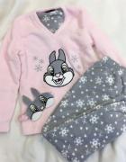Piżama bluza Disney pudrowy róż mięciutka Bambi nowa