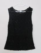 czarna ażurowa baskinka