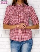 Koszula w kratkę czerwona