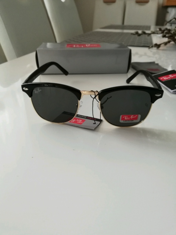 Ray Ban Nowe okulary przeciwsłoneczne z etui i ściereczką w zestawie Filtr uv400 nowe