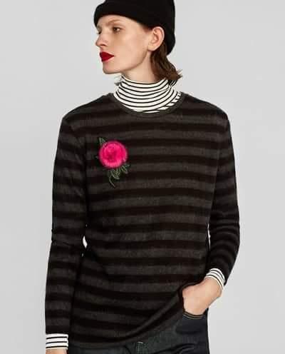 Zara sweter kwiat 36 s...