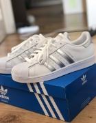 Adidas superstar silver damskie...