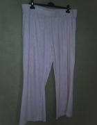 Jasno różowe welurowe dresy spodnie dresowe 54