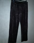 Spodnie dresowe welurowe brązowe 42 44