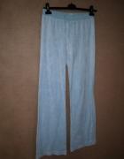 Spodnie dresowe welurowe jasnoniebieskie błękitne
