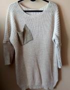 dzianinowy sweter z kieszonką r M 38
