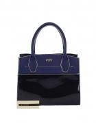 Pasek do torebki czarny lub ciemnogranatowy lakierowany albo niebieski kobaltowy