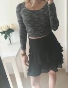 Dorothy Perkins Spódnica czarna falbanki elegancka M