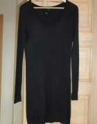 HM czarna sukienka sweterkowa dzianina minimal cos