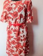 Letnia prosta sukienka w kwiatki r L