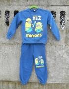 Dresowy komplet 116 128 spodnie i bluza MINIONS