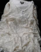 Beżowa kremowa sukienka koronka Bik Bok r S