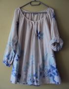 bawełniana bluzka w pastelowe kwiaty