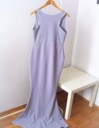 Długa błękitna suknia Boohoo maxi dress
