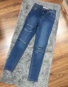 Spodnie jeans dziury XS