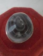 Srebrny autorski art pierścionek z kamieniem 10 gr