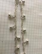 Srebry łańcuszek z kulkami