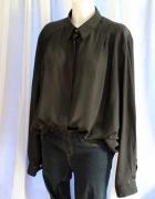 Czarna koszula zapinana na dekoracyjne guzki r LXL