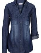 Długa tunika bluzka dżinsowa