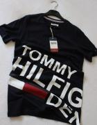 Czarna koszulka bawełniana Tommy Hilfiger m