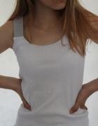 Biała bawełniana koszulka na ramiączka