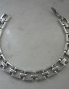 Srebrna masywna bransoletka prosta forma ponad 19 gr