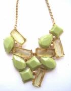 zielony oliwkowy naszyjnik kamienie kryształy