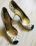 Guess buty czółenka szpilki pin up groszki r 40