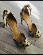 Zara sandałki czółenka na platformie open toe r 37 nowe...