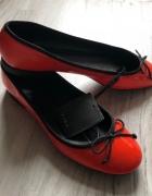 Zara eleganckie pomarańczowe balerinki r 39 nowe...