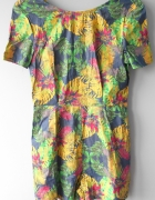 Boohoo kombinezon wzory letni tropical kolorowy...