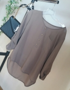 koszula beżowa mgiełka r S H&M zara S