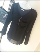 koszula czarna ZIP zamek Bershka H&M zara r S