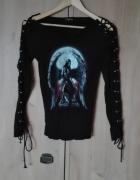 Bluzka goth sznurowane rękawy