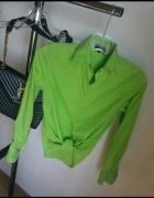 koszula zielona neon limonkowa H&M zara S