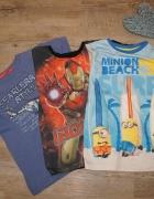 Bluzeczka koszulka zestaw IronMan i Minionki rozm 116...
