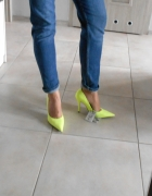 Zara nowe szpilki żółte neon neonowe 38...