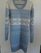 Długi sweter sukienka new look r xs s