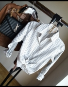 koszula biała w paski Atmosphere r S H&M zara bershka...