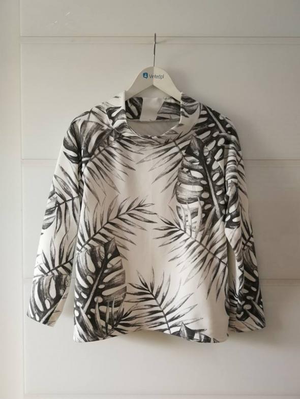 Dresowa bluza w liście handmade