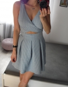 Zara sukienka baby blue serduszka S 36