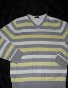 sweter w paski pastelowe kolory rozmiar M