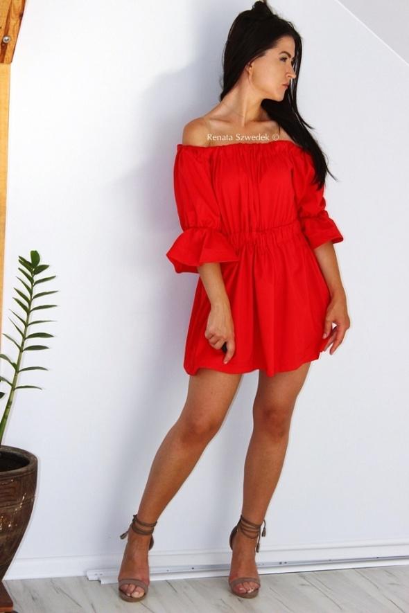 3e6a3aad7d7e Czerwona sukienka hiszpanka rozmiar S 36 S sukienka na lato w Suknie ...
