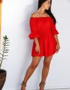 Czerwona sukienka hiszpanka rozmiar S 36 S sukienka na lato