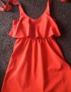 czerwona sukienka rS