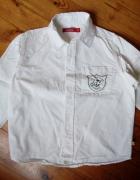 Biała koszula 128 cm...