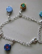 charms bransoleta floral