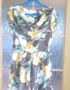 Piękna sukienka w kwiaty brąze 40 42...