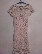 sukienka szydełkowana Zara